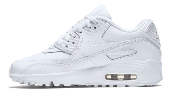 Zapatillas Nike Air Max 90 Leather Blanca Niño