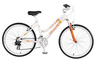 Bicicleta Mtb Rodado 24 Aluminio 21v Dama Niña Suspension