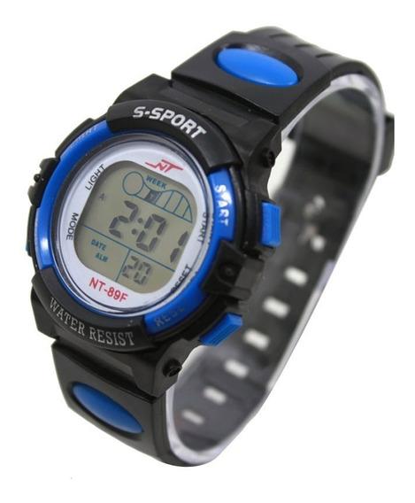 Relógio Infantil Digital Led Com Alarme 5 Luzes Diferentes R