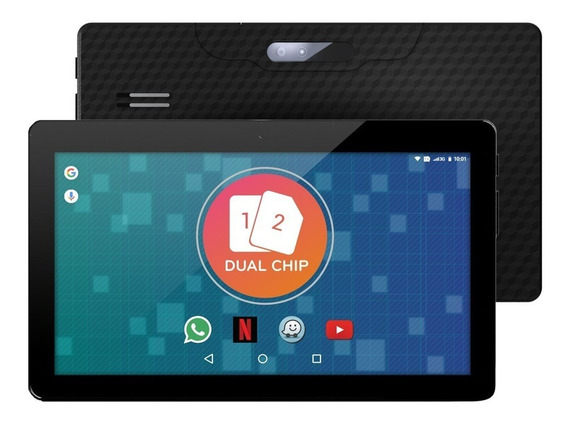 Tablet 3g 2 Chip Dual Sim How Wifi Gps 1001g 10 Polegadas