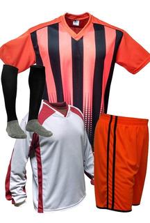 Kit 20 Camisas+20 Calções +20 Meiões + 1 Camisa Goleiro