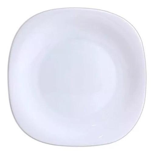 Jogo 6 Pratos Vidro Opal Diva Quadrado Sobremesa Envio Já