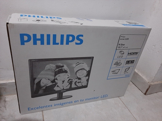 Monitor Led 19 Pulgadas Philips Hd 193v5lhsb2/55 Hdmi Full V