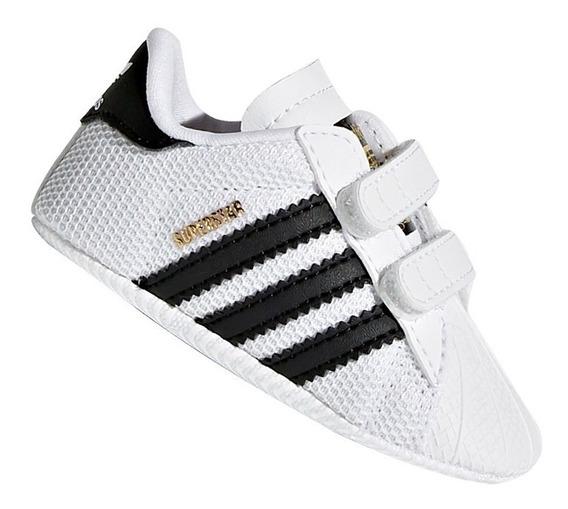 Tênis Infantil adidas Superstar Crib Branco E Preto Original