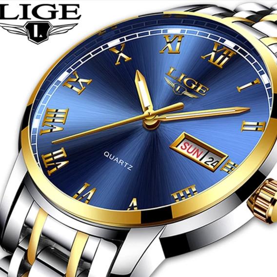 Relógio Masculino Lige Original 30 Metros Modelo 1853