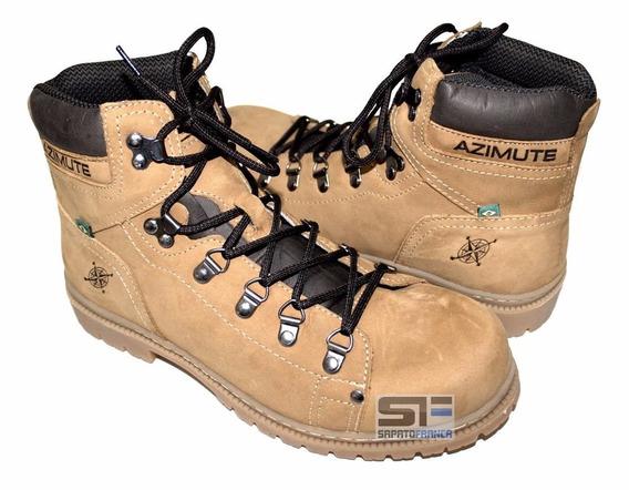 Bota Amarela Masculina Adventure Boots Couro Off Road