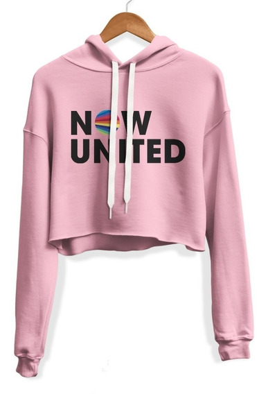 Moletom Feminino Cropped Blusa Casaco Fofo Now United Music