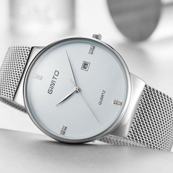 Relógio De Pulso Masculino De Aço Inoxidável.impecável.