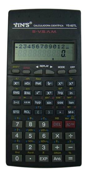 Calculadora Científica Ys82tl 12 Dígitos Com Capa Yins.