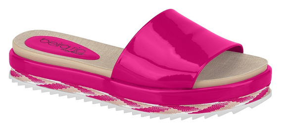 8354.600 Slide Flatform Beira Rio Pink