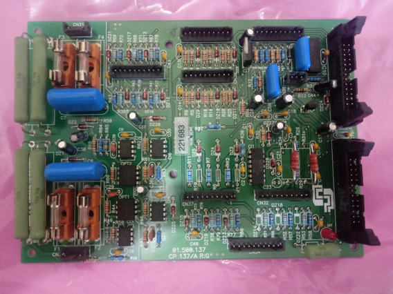 Placa Cp Eletrônica Cp137/a 137005 Numero De Série 221683