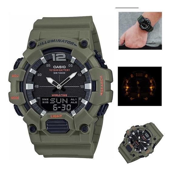 Reloj Casio Hombre Hdc-700, Uso Rudo 10 Year Bateria, Luz