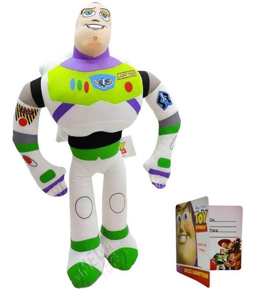 Pelúcia Toy Story Buzz Lightyear Com Som 30 Cm - Multikids