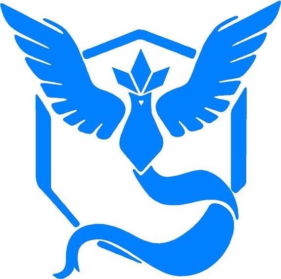 Vinilo Sticker Decorado Pokémon Go Equipo Azul Articuno