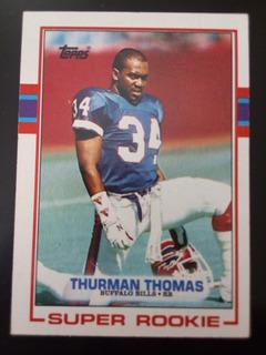 Carta Thurman Thomas Bills Topps 1989 Super Rookie
