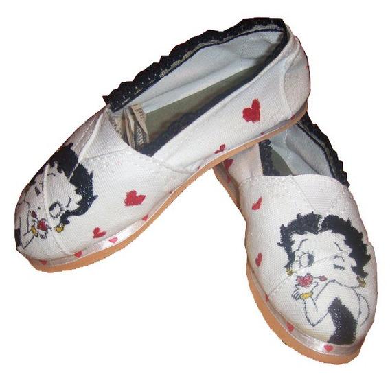 Alpargatas Pintadas A Mano Inspiradas En Betty Boop