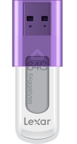 Pen Drive Lexar Ljds50 64gb Usb 2.0 (lilás) - Ljds50-64gabnl