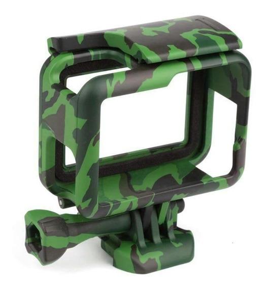 Armação Moldura Suporte Camuflado Gopro Hero 5 6 7 Black