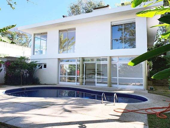 Casa Modernista De Arquiteto Com 4 Dormitórios Para Alugar, 320 M² Por R$ 18.000/mês - Vila Madalena - São Paulo/sp - Ca0304