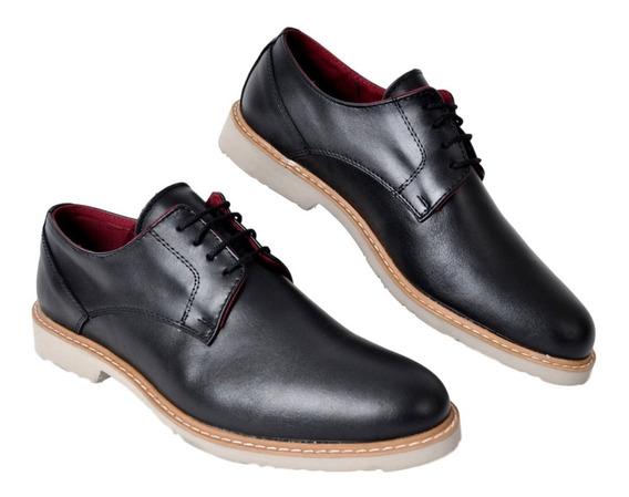 Zapato Hombre Cuero Vestir Campus 4052 Liviano Moda Cuotas