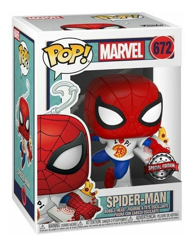 Funko Pop! Marvel Spider-man With Pizza Exclusive