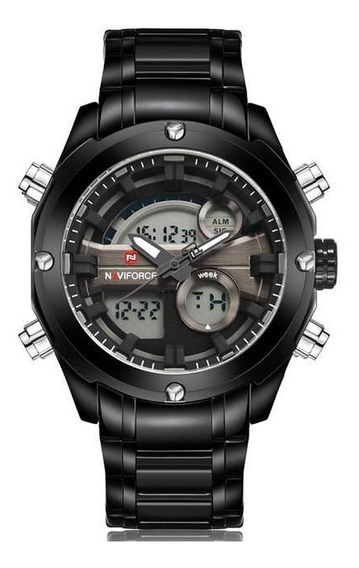 Relógio Masculino Esportivo Militar Naviforce Nf9088/cinza