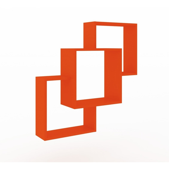Repisa Ensamble Naranja Salas Decoracion Minimalista Bossa