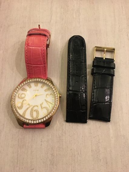 Relógio Guess Com Duas Pulseiras De Couro