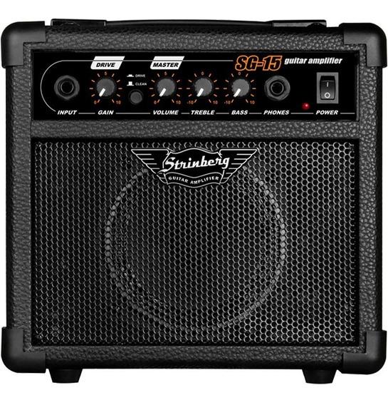 Cubo Caixa Som Amplificador Guitarra Violão 12w C/ Distorção