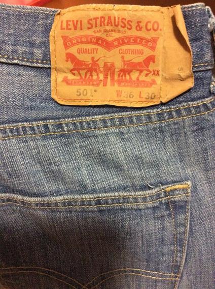 Combo 2 Pantalon Levis 501 Talla 36x30 Hombres
