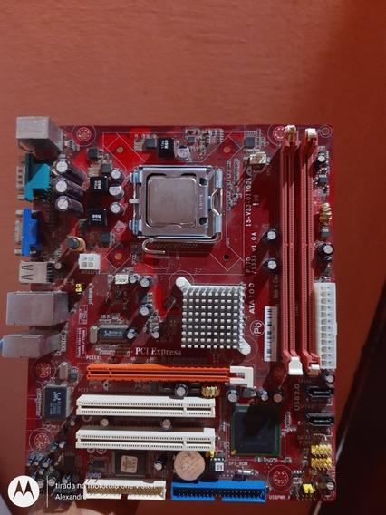 Placa Mãe Ata100+processador Intel Pentium Dual Core+memória