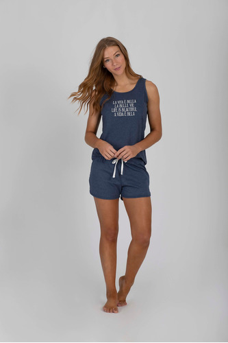Imagem 1 de 1 de Pijama Regata Com Short Doll Adulto Ref - 13053