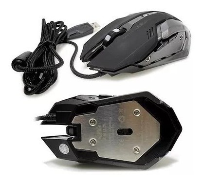 Mouse Gamer Usb Tiger X 2400dpi C/ 6 Botoes 7 Cores