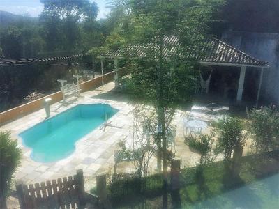 Linda Casa Condomínio Fechado. Terreno Grande Com Árvores Frutíferas, Piscina, Churrasqueira, Viveiro. - Ca0077