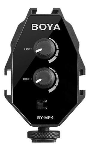 Imagen 1 de 9 de Mixer Audio Mezclador Adaptador P/ Microfono Boya By-mp4