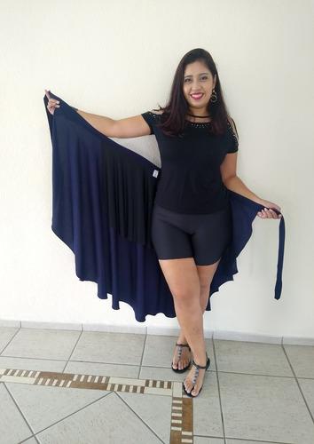 Imagem 1 de 9 de Saia Envelope Traspassada Que Vira Vestido
