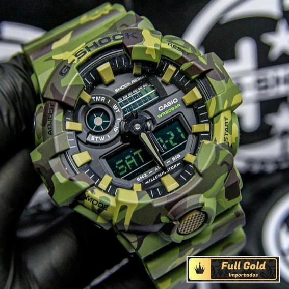 Relógio G Shock Ga700cm-3adr - Camuflado - 100% Original