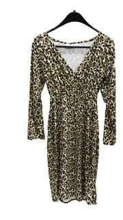 Vestido Mujer Pcm Animal Print Marron (0201)