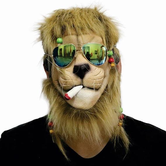 Halloween Máscara Látex Premium Rastafari León De Juda Orig