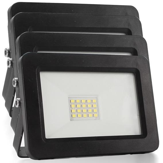 Kit 4 Refletor Led Holofote 50w Iluminação Externa Jardim