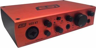 Placa De Sonido Esi U22xt 2 Entradas 2 Salidas
