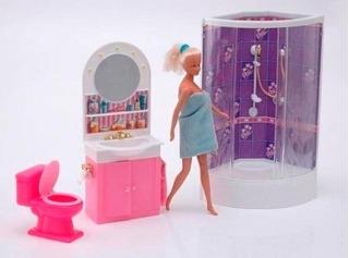 Gloria El Baño Muebles Casita Muñecas Tipo Barbie