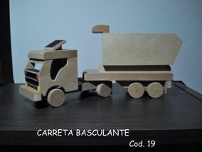 Carrinho Artesanal De Madeira Cod. 19 - Carreta Basculante