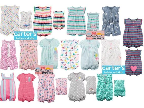 Macacão Curto Verão Romper Carters Original Menina 3m A 24m