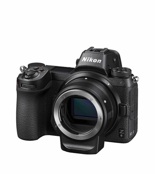 Camera Nikon Z6 Com Adaptador Nikon Ftz Mount Para Dslr