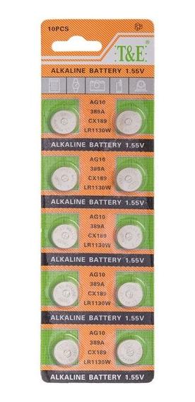 Bateria Alcalina G10 Cartela 10 Un.