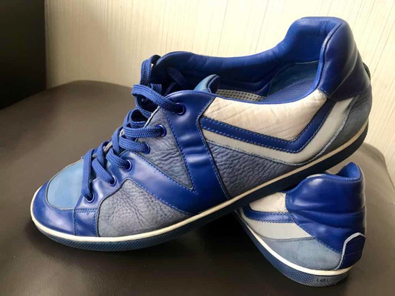 Tenis Louis Vuitton Azules Hombre 7 1/2 Gucci Fendi Prada