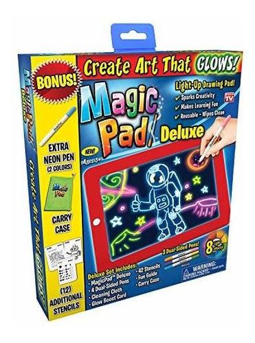 Tableta De Dibujo Con Luz Led De Lujo Con Almohadilla Magica