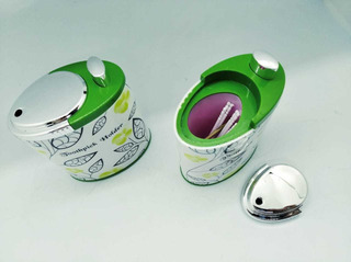 Porta Escarbadientes/palillero Plástico X2 Unid.