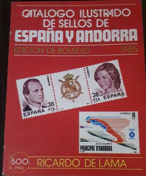 Catálogo Ilustrado Sellos España Y Andorra De Lama 1985